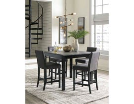 Signature Design by Ashley 5Pc Garvine Series Square Counter Set in Two-Tone D161-223