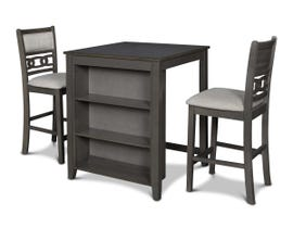 New Classics Gia Series 3pc Bookcase Counter Set in Grey D1701