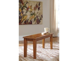 Signature Design by Ashley Berringer Large Dining Room Bench in Rustic Brown D199-00