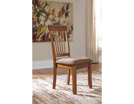 Signature Design by Ashley Wood Dining Chair in Rustic Brown (Set of 2) D199