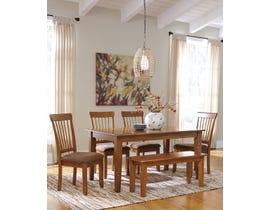 Signature Design by Ashley 6Pc Wood Dining Set in Rustic Brown D199