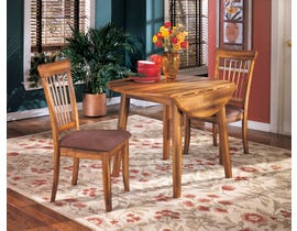 Signature Design by Ashley 3Pc Wood Dining Set in Rustic Brown D199