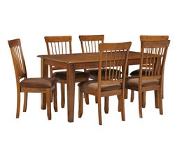 Signature Design by Ashley 7Pc Wood Dining Set in Rustic Brown D199