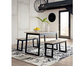 Signature Design by Ashley Waylowe Series 3pc Dining Set in Two-tone D201-125