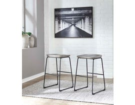 Signature Design by Ashley Showdell Series Tall Barstool (Set of 2) in Gray/Black D205-030