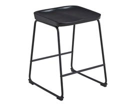 Signature Design by Ashley Showdell Series Barstool (Set of 2) in Gray/Black D205-024