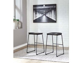 Signature Design by Ashley Showdell Series Tall Barstool (Set of 2) in Black D205-130
