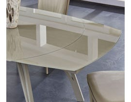 Global Furniture Champagne Matte Extendable Dining Table
