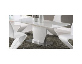 Global Furniture dining table white high gloss D2279DT