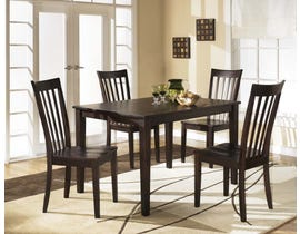 Signature Design by Ashley Hyland Series 5pc Dining Set in Reddish Brown D258