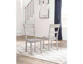 Signature Design by Ashley Loratti Series Dining Room Side Chair in Gray (Set of 2) D261-01