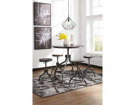 Signature Design by Ashley Odium Series Counter Table Set in Brown (5-CN) D284-223
