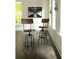 Signature Design by Ashley Odium Tall Swivel Bar Stool (Set of 2) in Brown D284-230