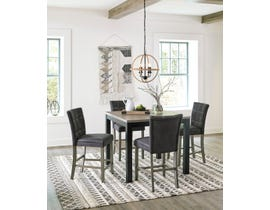 Signature Design by Ashley Dontally 5pc Square Counter Table Dining Set in Two-Tone Brown D294-13-124(4)