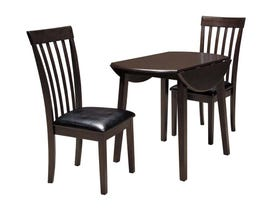 Signature Design by Ashley Dining Table and Chair Set in Dark Brown D310D2