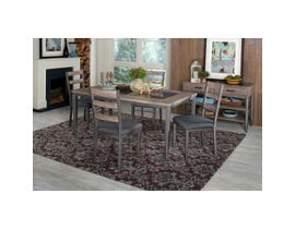 High Society River Loft 6pc Dining Set with Bench in Rustic Oak D312