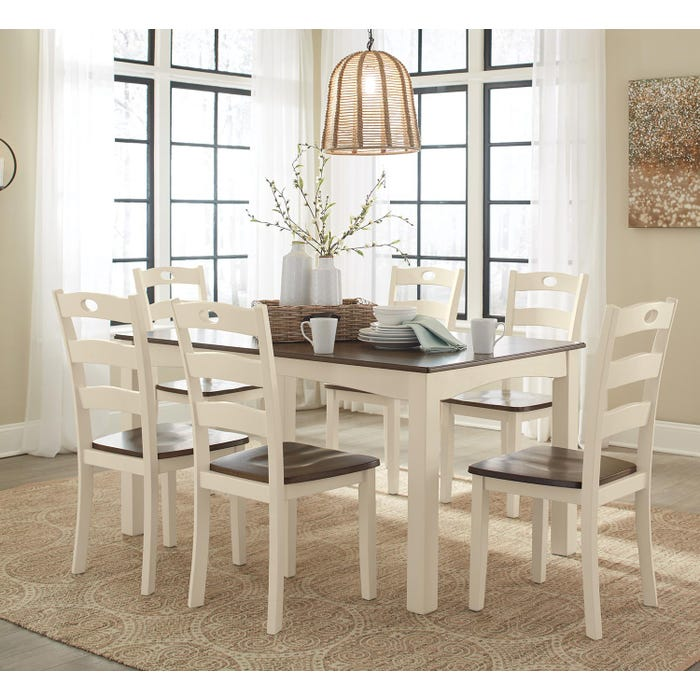 Signature Design by Ashley Woodanville series 7 piece dining room table set D335-425