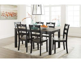 Signature Design by Ashley Froshburg Series 7pc Dining Room Table Set in Grayish Brown D338