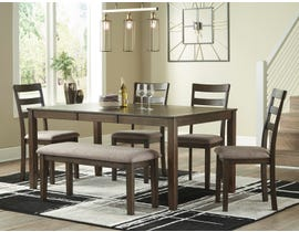 Signature Design by Ashley Drewing Series 6pc Dining Set in Brown D358