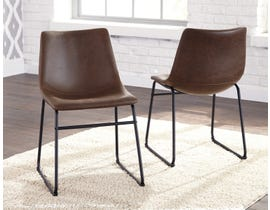 Signature Design by Ashley Centiar Upholstered Side Chair (Set of 2) in Brown/Black D372-01