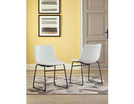 Signature Design by Ashley Dontally Series UPH Side Chair (set of 2) in White D372-07