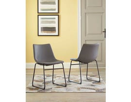 Signature Design by Ashley Dontally Series UPH Side Chair (set of 2) in Gray D372-08