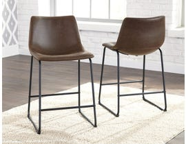 Signature Design by Ashley Centiar Upholstered Bar Stool (Set of 2) in Brown D372-124