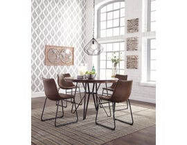 Signature Design by Ashley Centiar Series Round Dining Table in Two-Tone Brown D372-15