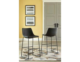 Signature Design by Ashley Centiar Series Tall UPH Barstool (Set of 2) in Black D372-630