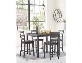 Signature Design by Ashley Bridson Series 5pc Counter Table Set in Gray D383