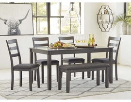 Signature Design by Ashley Bridson Series 6pc Dining Set in Gray D383-325