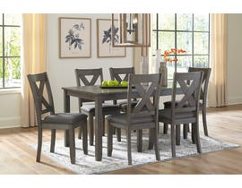 Signature Design by Ashley Caitbrook 7pc Dining Set in Grey D388-425