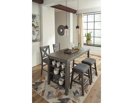Signature Design by Ashley 5pc Counter Height Table Set in Antique Gray D388