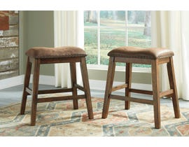 Signature Design by Ashley Chaleny Upholstered Stool (Set of 2) in Warm Brown D392-024