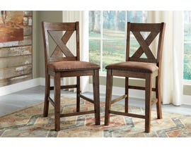 Signature Design by Ashley Chaleny Upholstered Bar Stool (Set of 2) in Warm Brown D392-124
