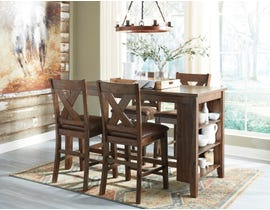 Signature Design by Ashley Chaleny 5pc Counter Dining Set in Warm Brown D392-42-124(4)