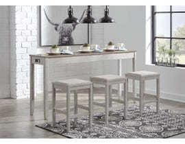 Signature Design by Ashley 4pc Skempton Series Counter Table Set in White/Light Brown D394-223