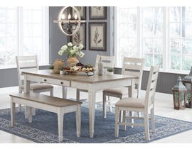 Signature Design by Ashley Skempton Series 6pc Dining Set in White D394