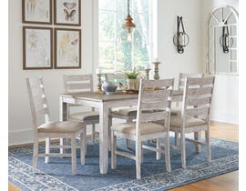 Signature Design by Ashley Skempton Series 7 Pc Dining Set in White D394