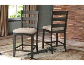 Signature Design by Ashley Rokane Upholstered Bar Stool (Set of 2) in Light Brown D397-124