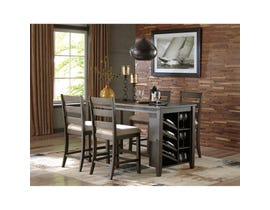 Ashley 5-piece Dining Set in Dark Brown D397-425