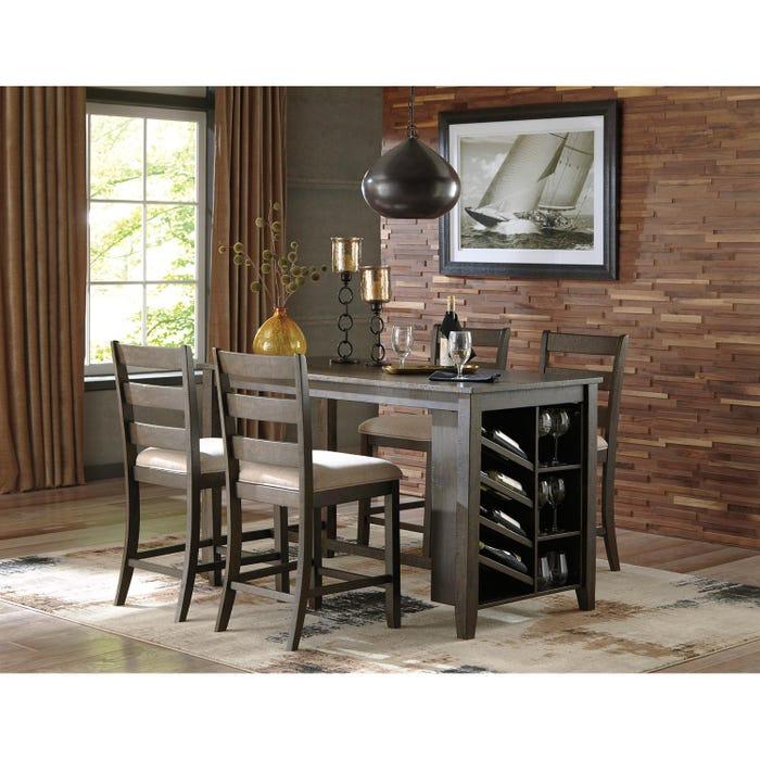 Ashley 5-piece Dining Set in dark brown D397-425