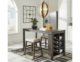 Signature Design by Ashley Rokane Series Counter Table with Storage in Brown D397-32