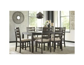 Ashley 7-piece Dining Set in Dark Brown D397-425