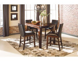 Signature Design by Ashley Dining Table and Chair Set in Burnished Dark Brown D442D24