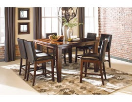 Signature Design by Ashley Dining Table and Chair Set in Burnished Dark Brown D442D25