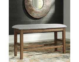 Signature Design by Ashley Glennox Upholstered Dining Room Bench in Warm Brown D503-09