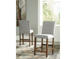Signature Design by Ashley Glennox Upholstered Bar Stool (Set of 2) in Grey/Brown D503-124