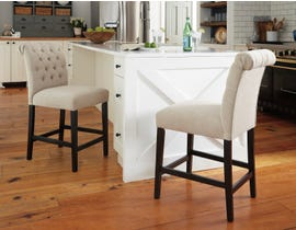 Signature Design by Ashley Tripton Upholstered Bar Stool (Set of 2) in Linen D530-124
