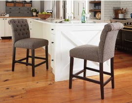 Signature Design by Ashley Tripton Upholstered Bar Stool (Set of 2) in Graphite D530-224